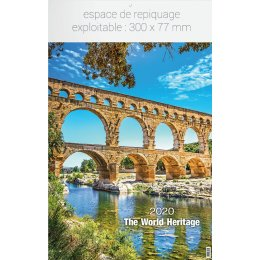 Calendrier feuillet INF WORLD HERITAGE