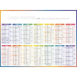 Calendrier bancaire INC55 EUROPE HORIZONTAL