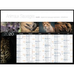 Calendrier bancaire INC55 ANIMAUX SAUVAGES