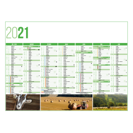 Calendrier bancaire INC55/43/27 AGRICULTURE