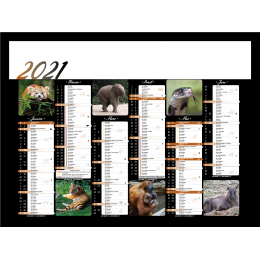 Calendrier bancaire INC55/43/27 ANIMAUX SAUVAGES