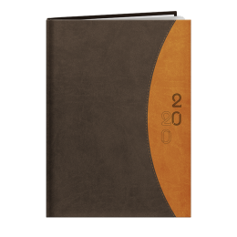 Agenda de bureau INA27 RIO MARRON/ORANGE